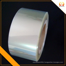 UV treated transparent PET film